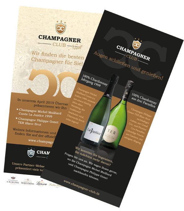 Champagner Club Aussendung April 2019