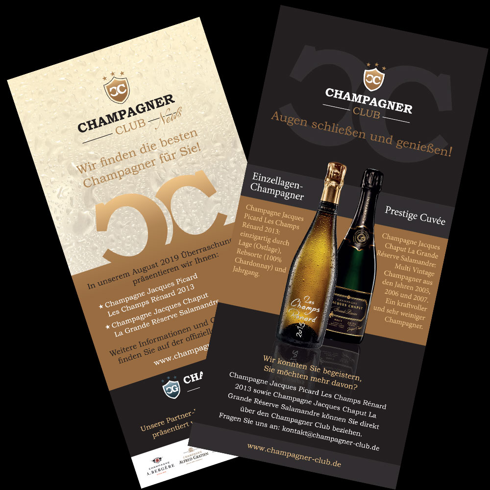 Champagner Club-Aussendung August 2019 mit Champagne Jacques Picard und Champagne Jacques Chaput